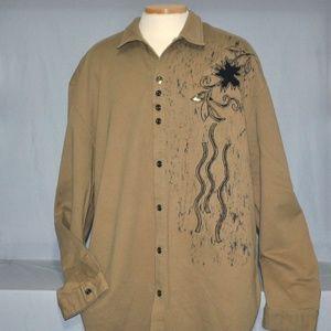 New Venezzi Men's Shirt Size 4XL Embellished Top
